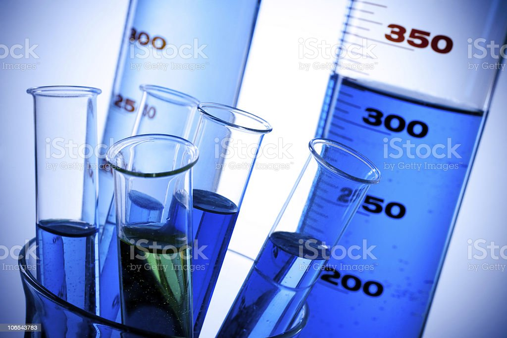 laboratory glassware royalty-free stock photo