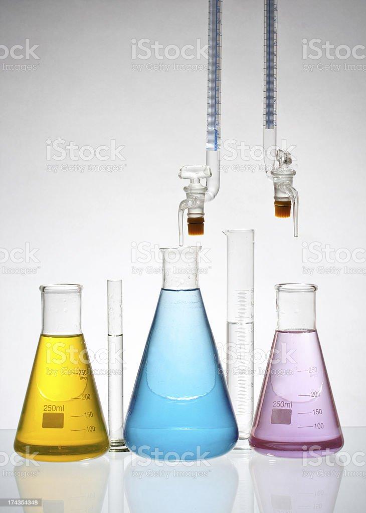 laboratory glassware royalty-free stock photo