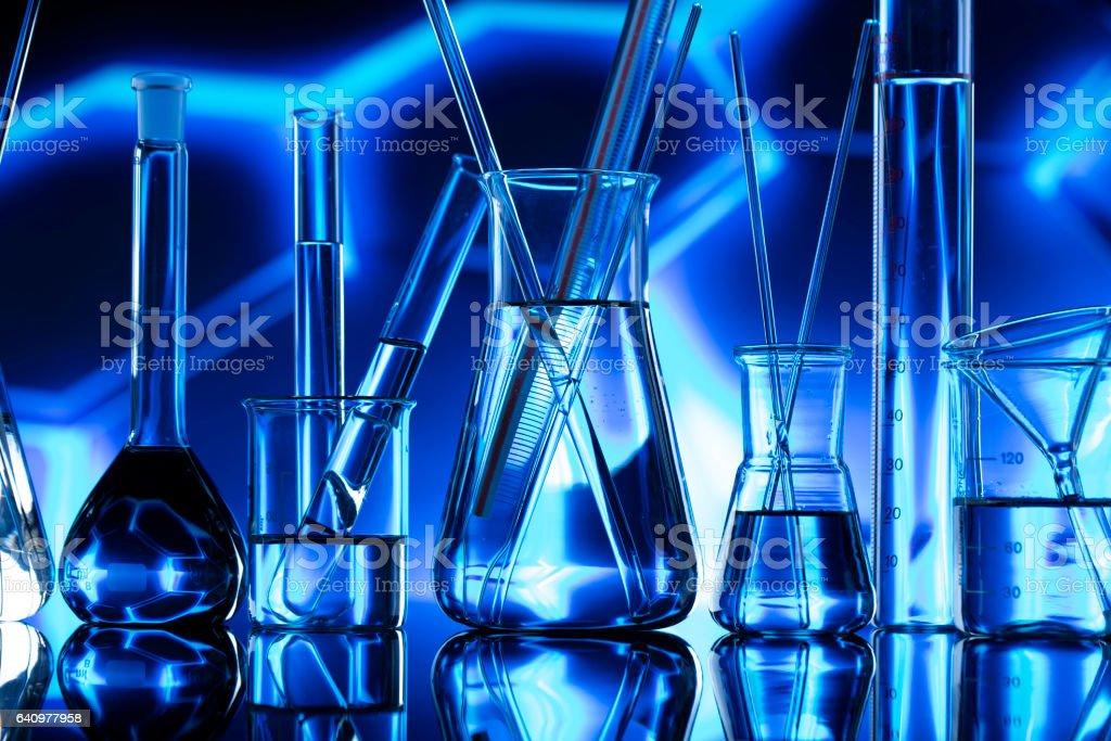Laboratory glassware stock photo