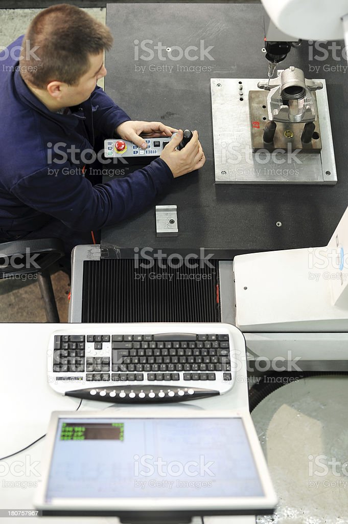 Laboratory in metal factory stock photo
