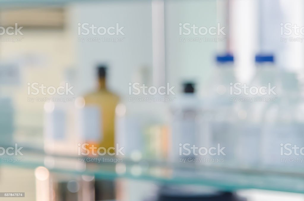 Laboratory interior out of focus, template for a poster, webpage stock photo