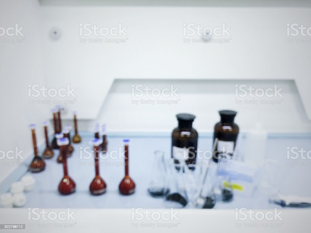 Laboratory interior out of focus,laboratory background. stock photo