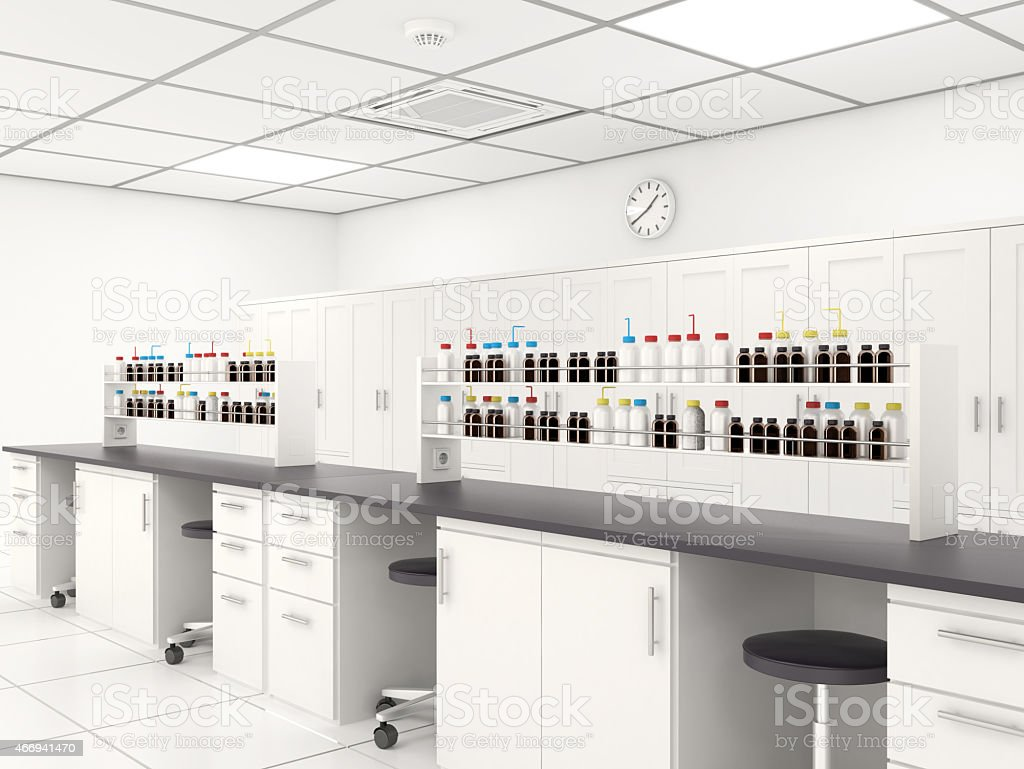 Laboratory Interior stock photo