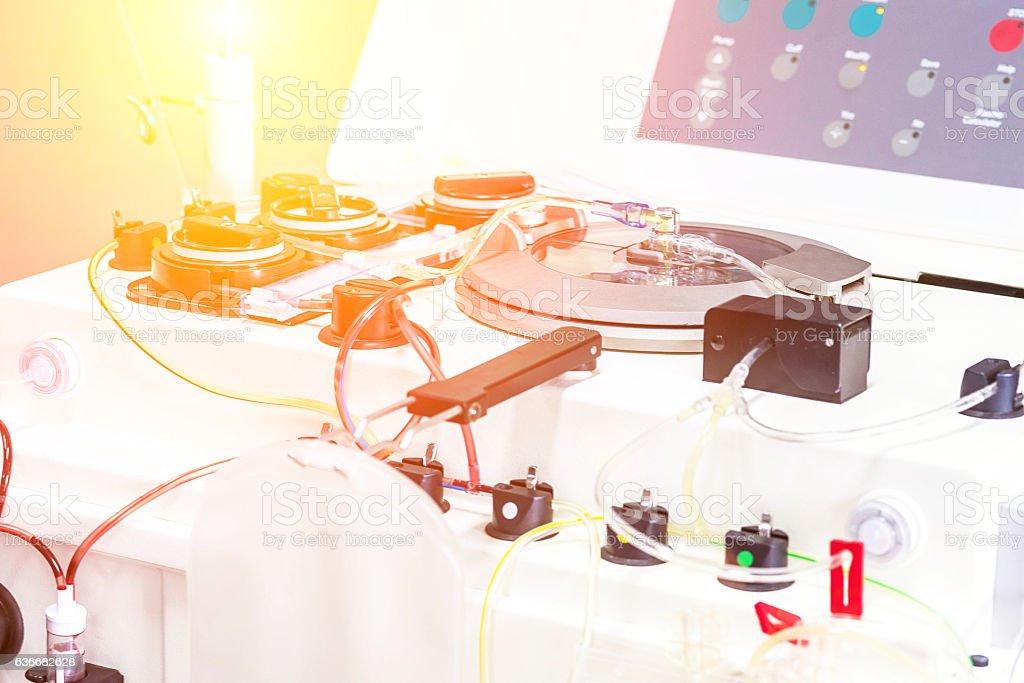 Laboratory medical equipment. Automated Machinery. stock photo