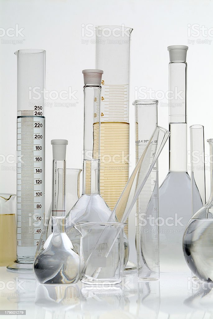 Laboratory of Chemical - multiple royalty-free stock photo