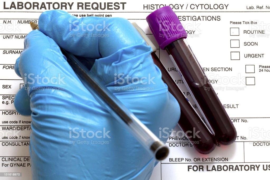 Laboratory Request stock photo