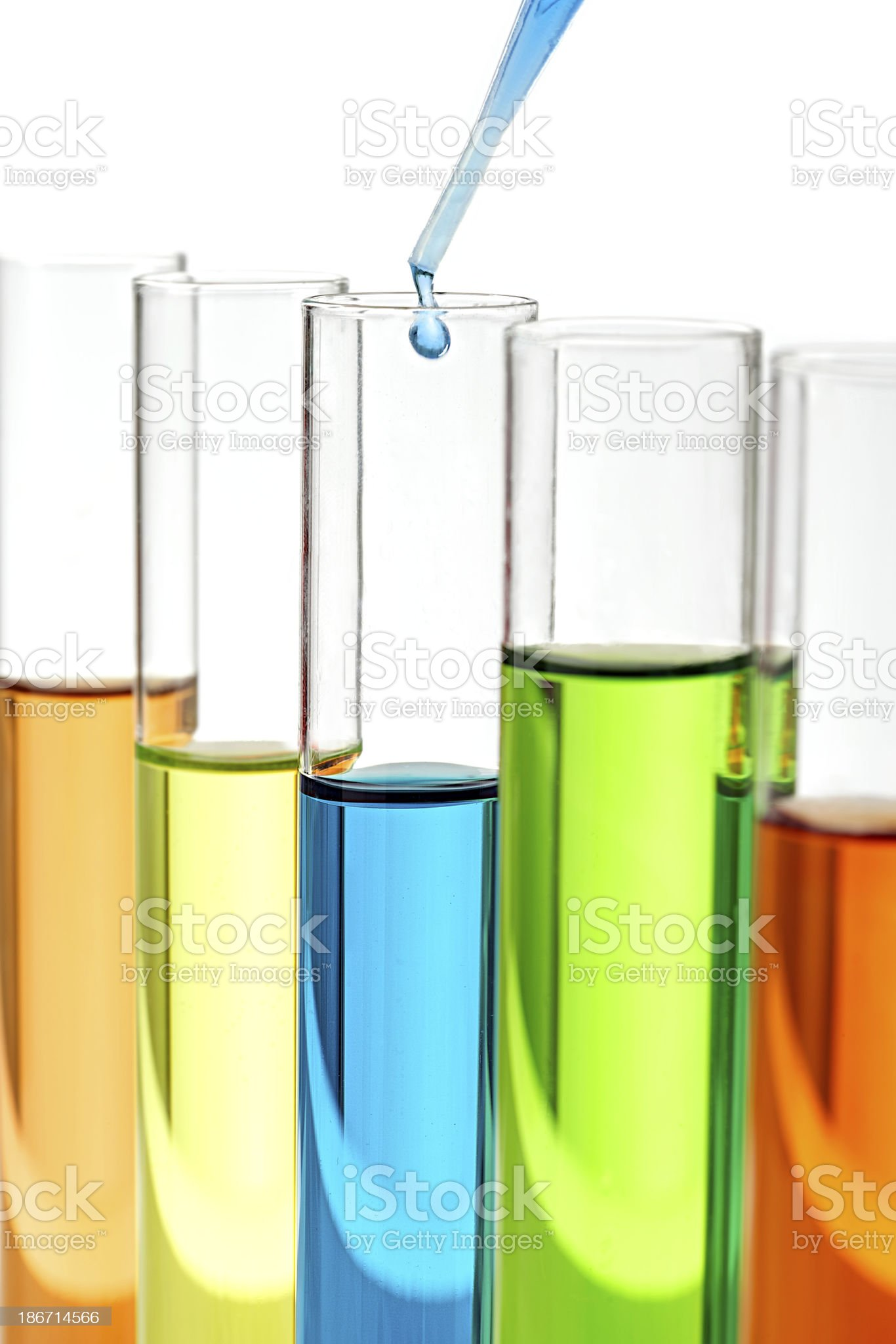 Laboratory research- testing tubs with drop of solution royalty-free stock photo