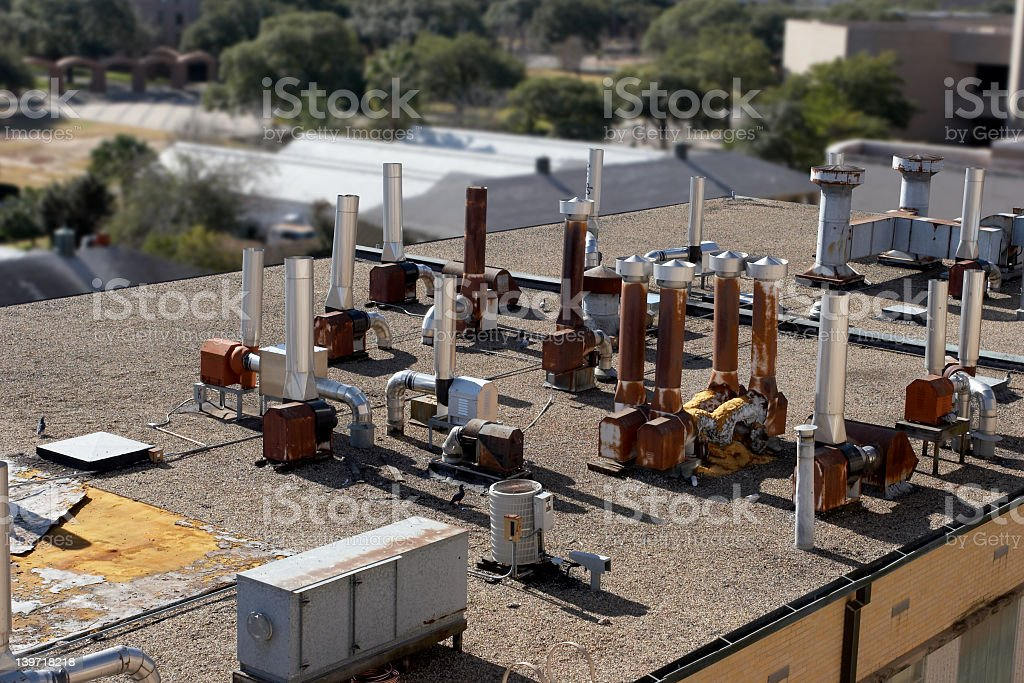 Laboratory Rooftop royalty-free stock photo