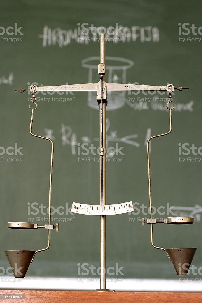 laboratory scales royalty-free stock photo