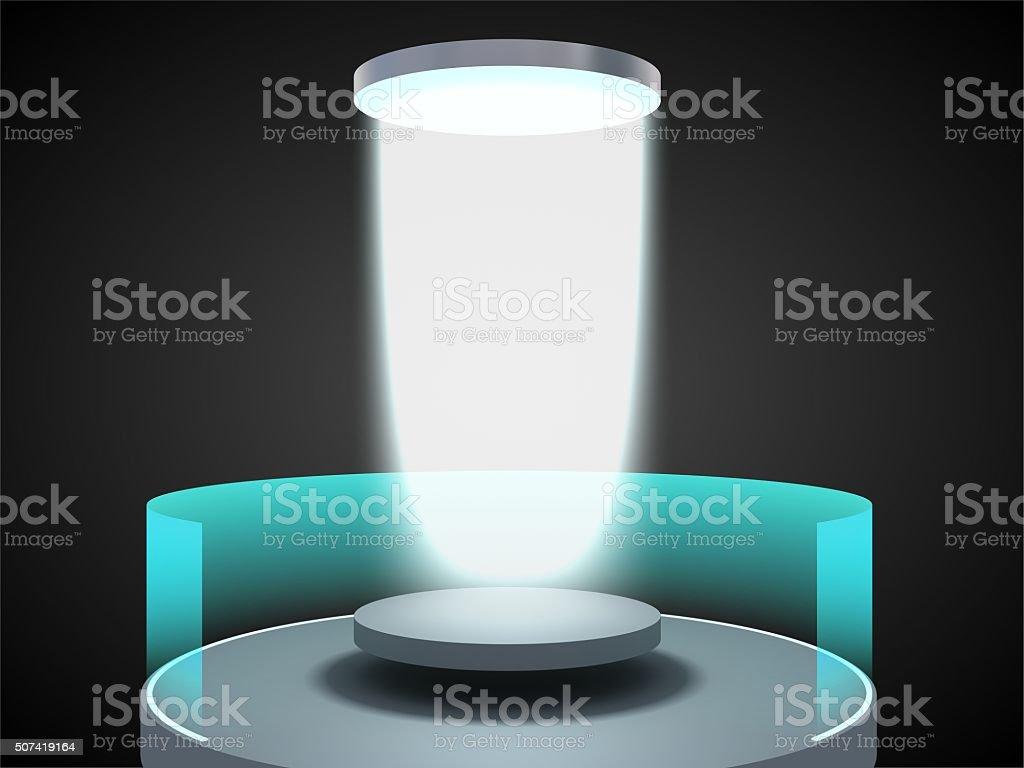Laboratory teleportation portal 2 stock photo