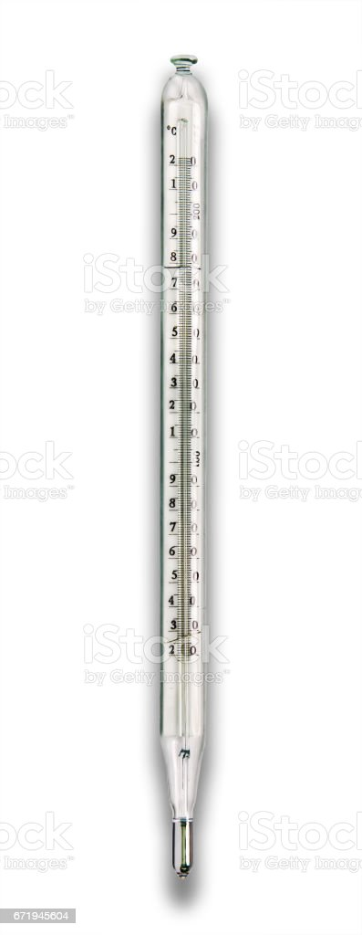 Laboratory thermometer. stock photo