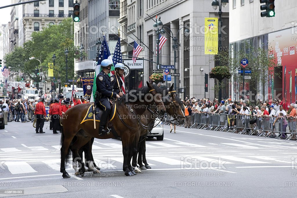 Labour Day Parade in Manhattan stock photo