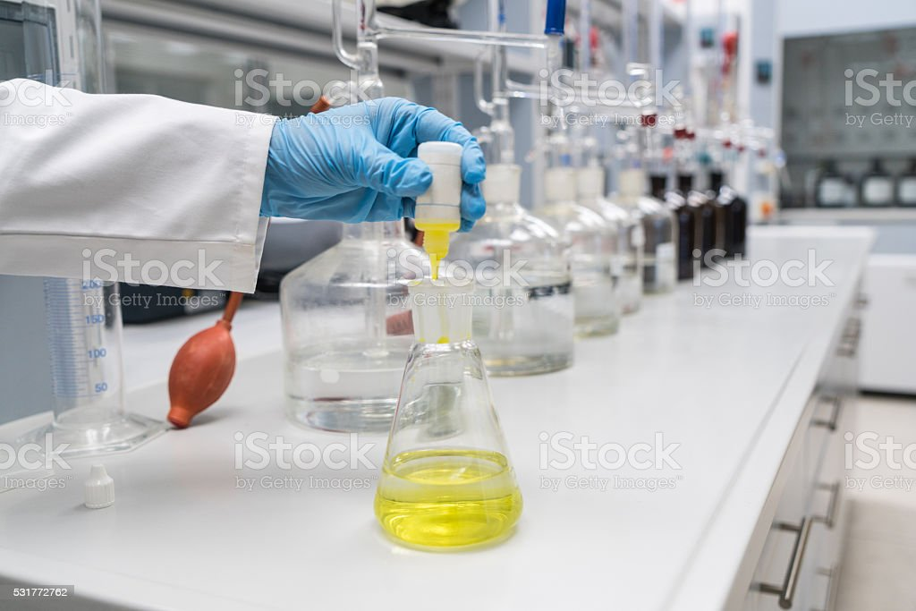 Labrotory Glassware stock photo