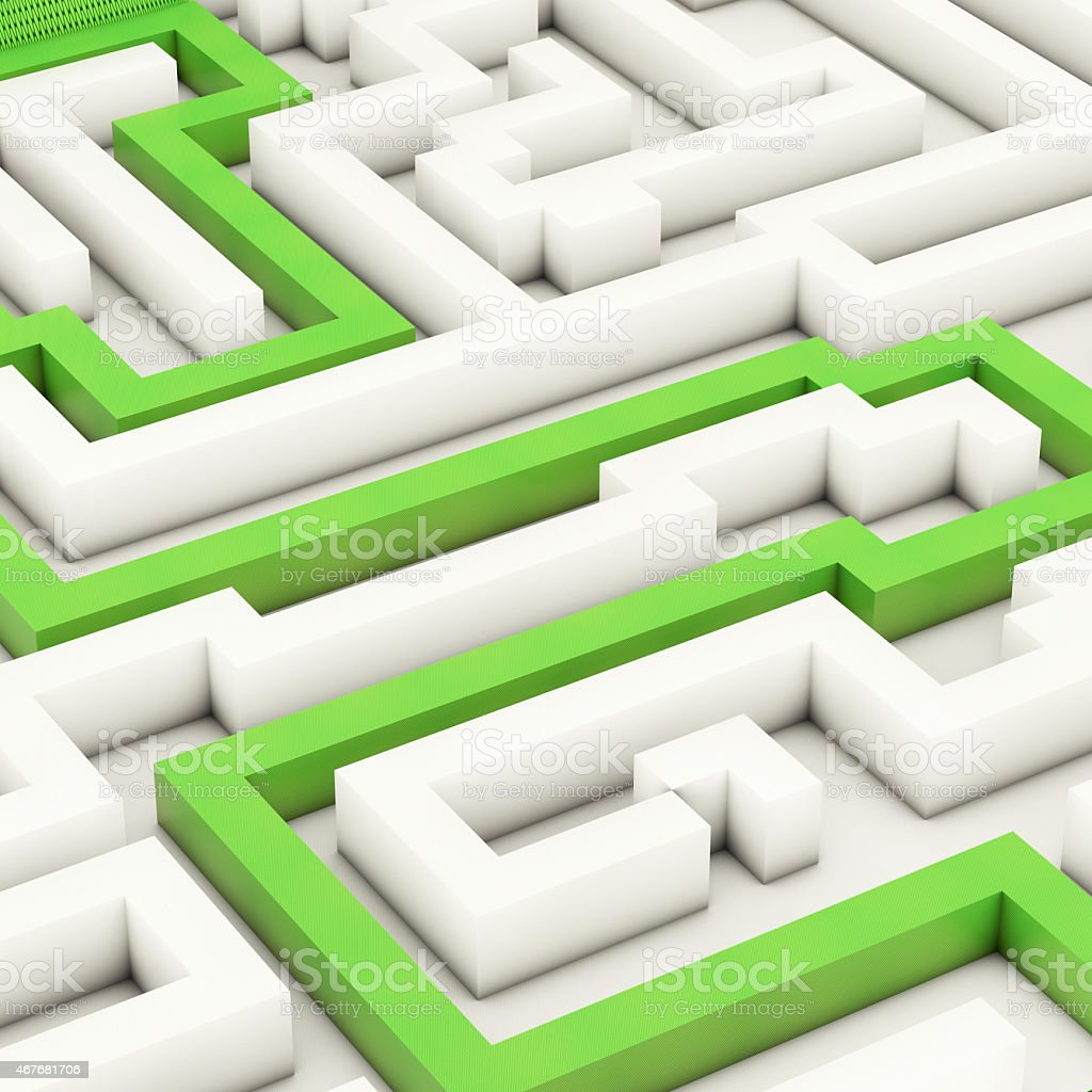 Labyrinth - 3d rendered illustration stock photo