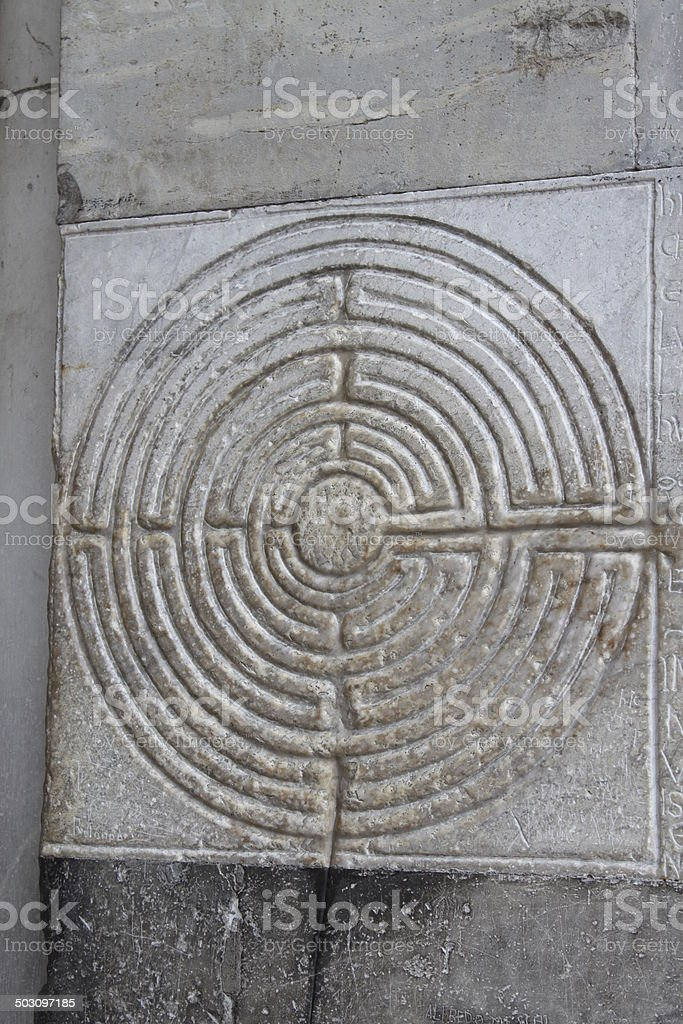 Labyrinth in Lucca royalty-free stock photo