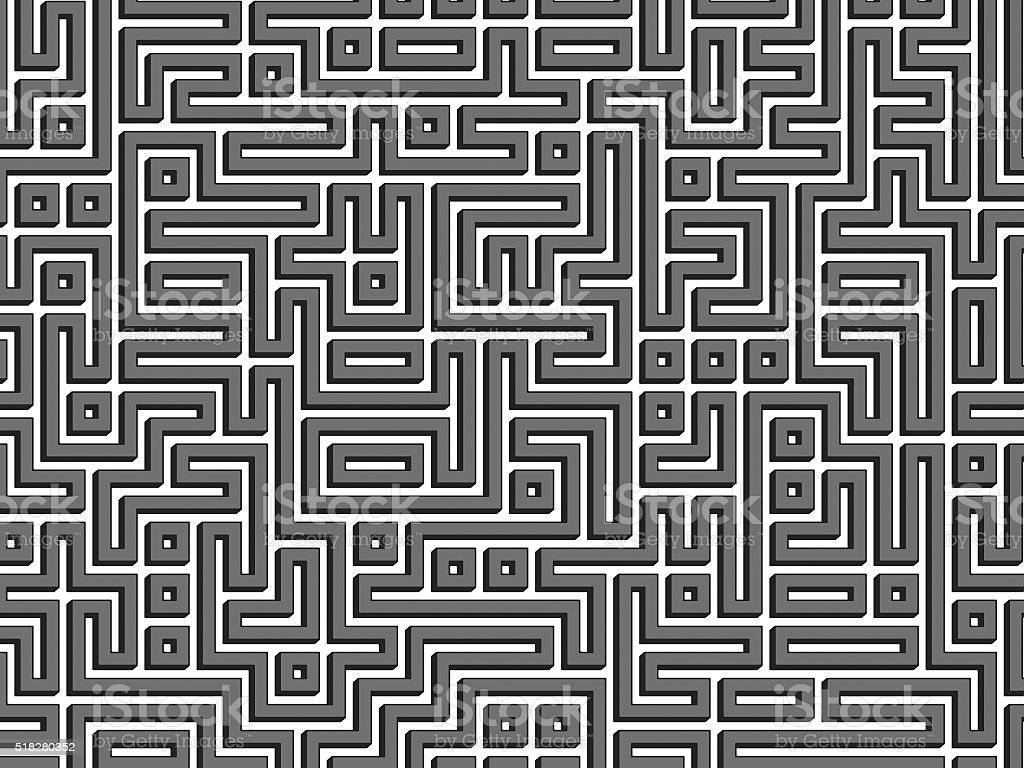 Labyrinth maze background stock photo