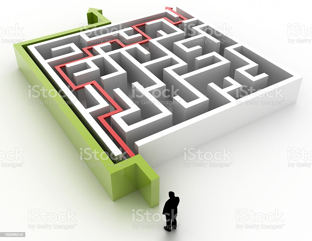 Labyrinth of choices royalty-free stock photo