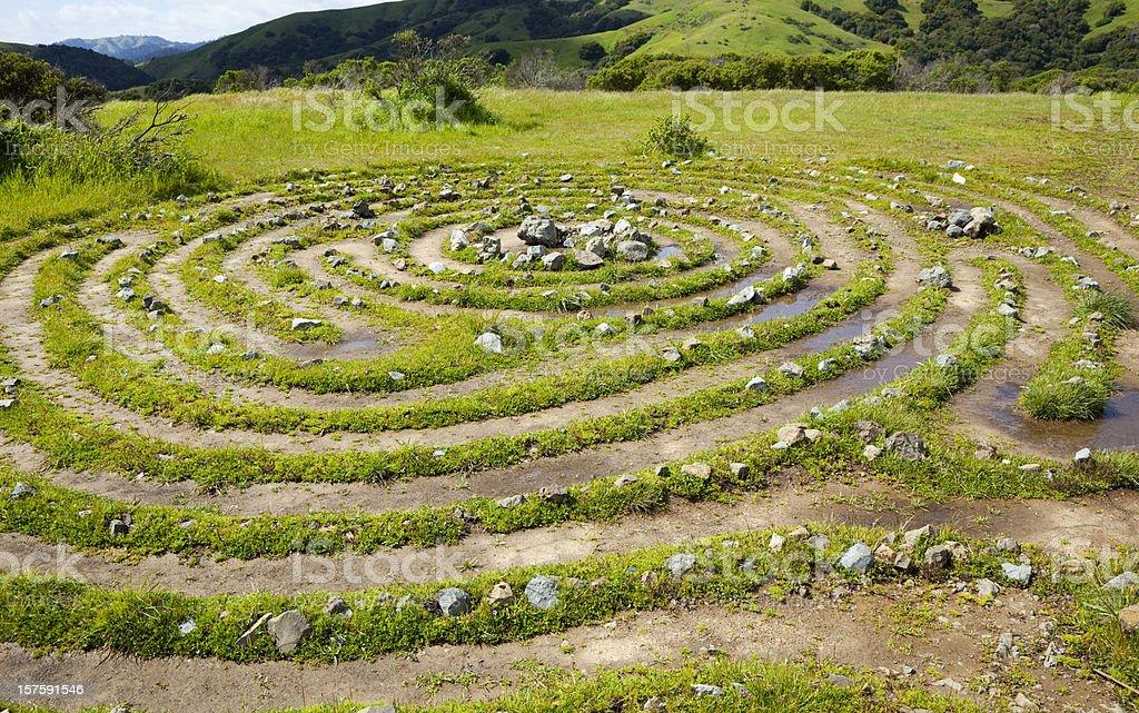 labyrinth royalty-free stock photo