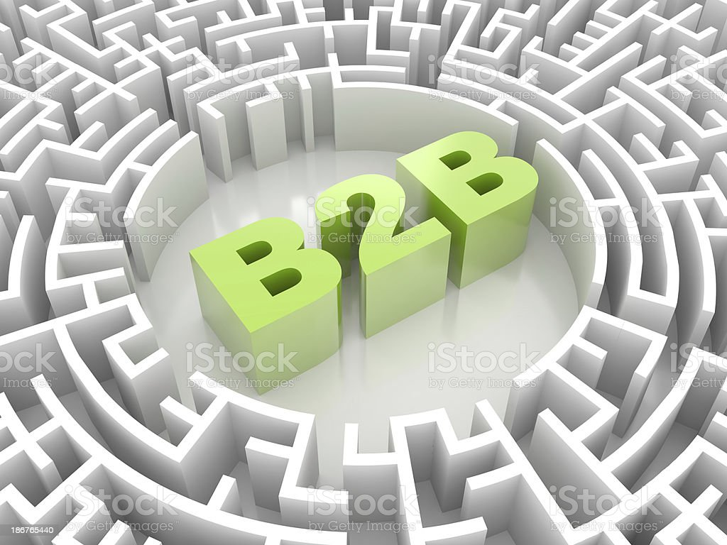Labyrinth with B2B word royalty-free stock photo