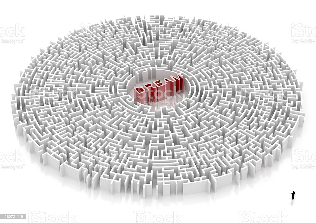 Labyrinth with DREAM word royalty-free stock photo