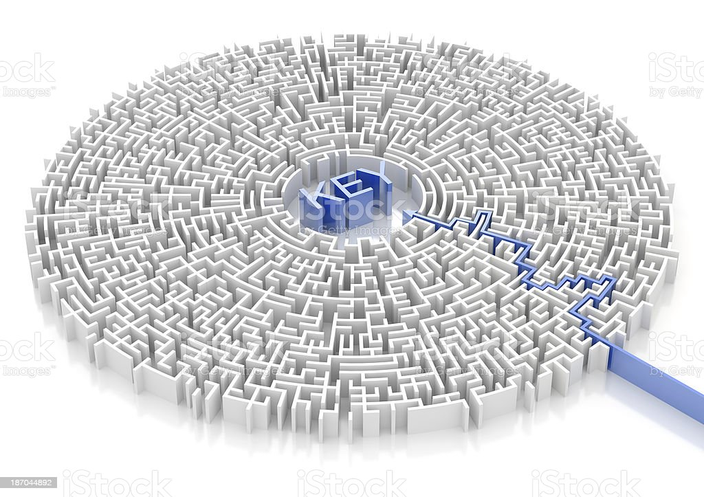 Labyrinth with KEY word royalty-free stock photo