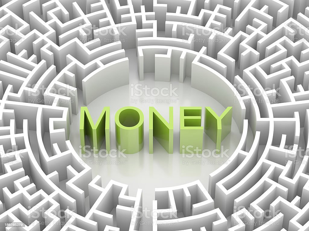 Labyrinth with MONEY word royalty-free stock photo