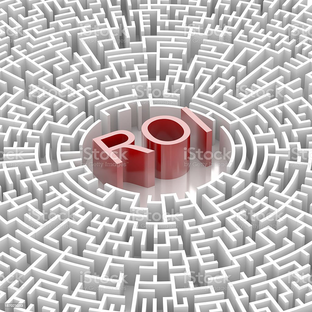 Labyrinth with ROI word royalty-free stock photo