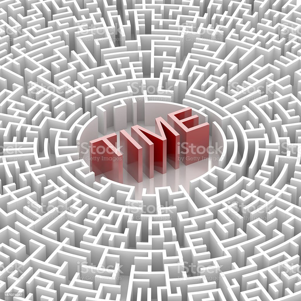 Labyrinth with TIME word royalty-free stock photo