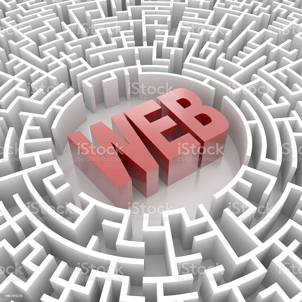 Labyrinth with WEB word royalty-free stock photo