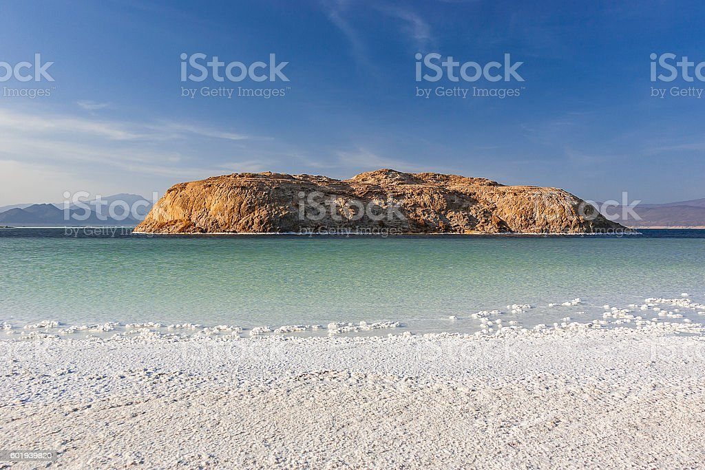 Lac Asal in Djibouti stock photo