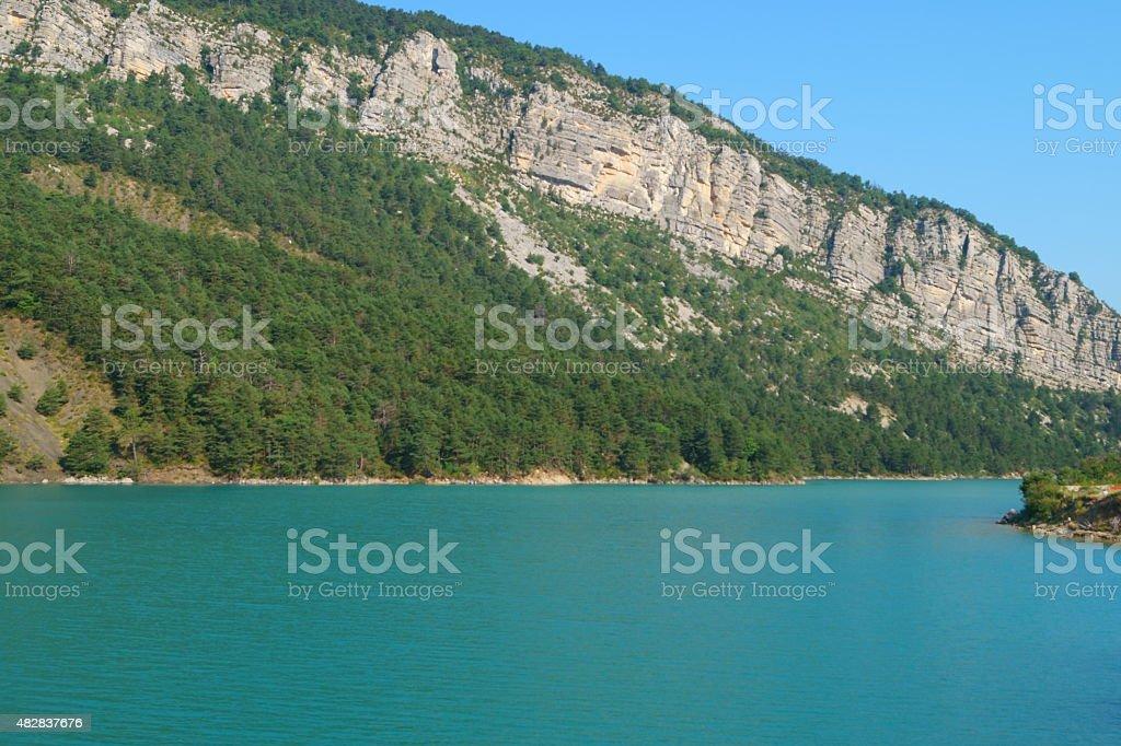 Lac de Castillon - Provence stock photo