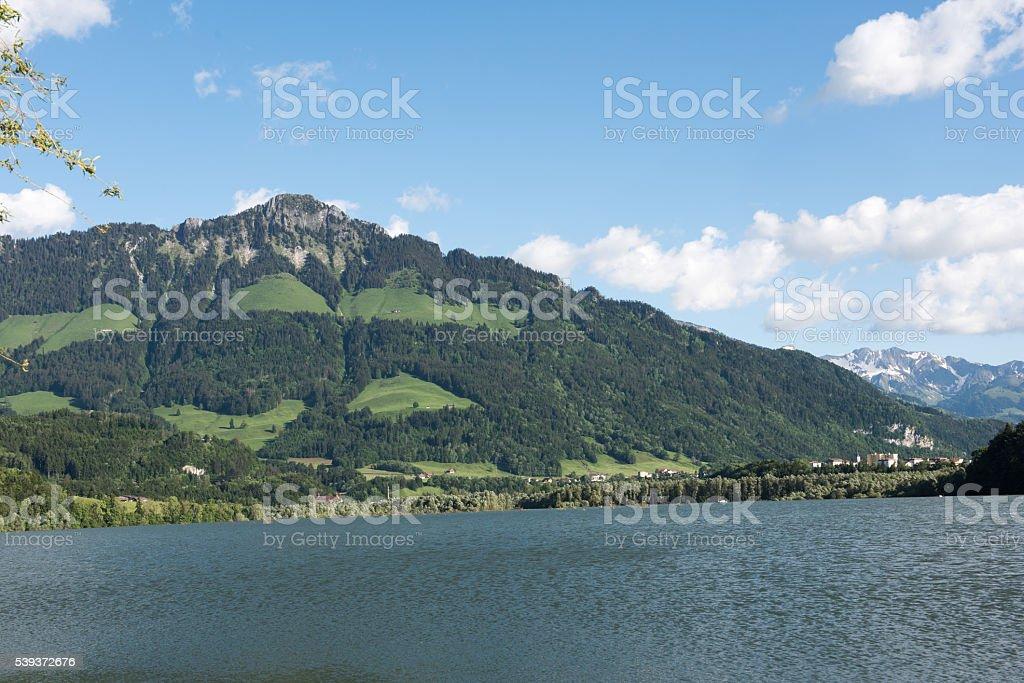 Lac de Gruyère stock photo