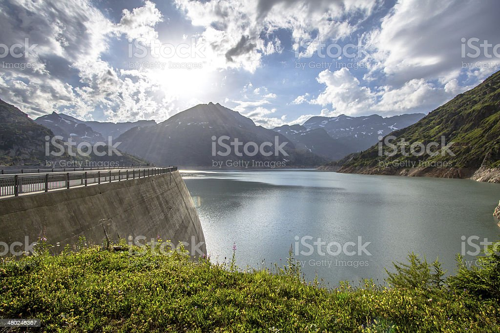 Lac d'Emosson stock photo