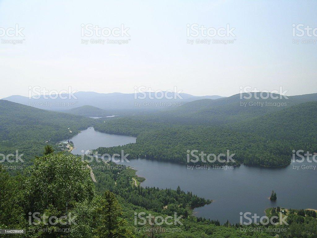 Lac Monroe du Mont-Tremblant stock photo