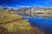 Lac Petarel dans le Parc National des Ecrins.