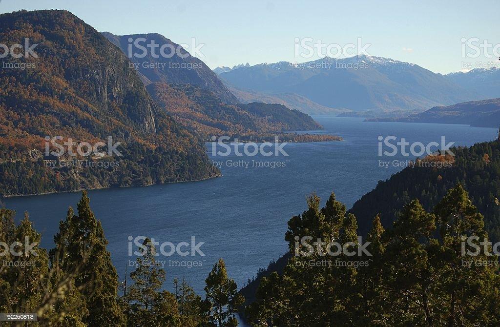 Lacar Lake Patagonia royalty-free stock photo