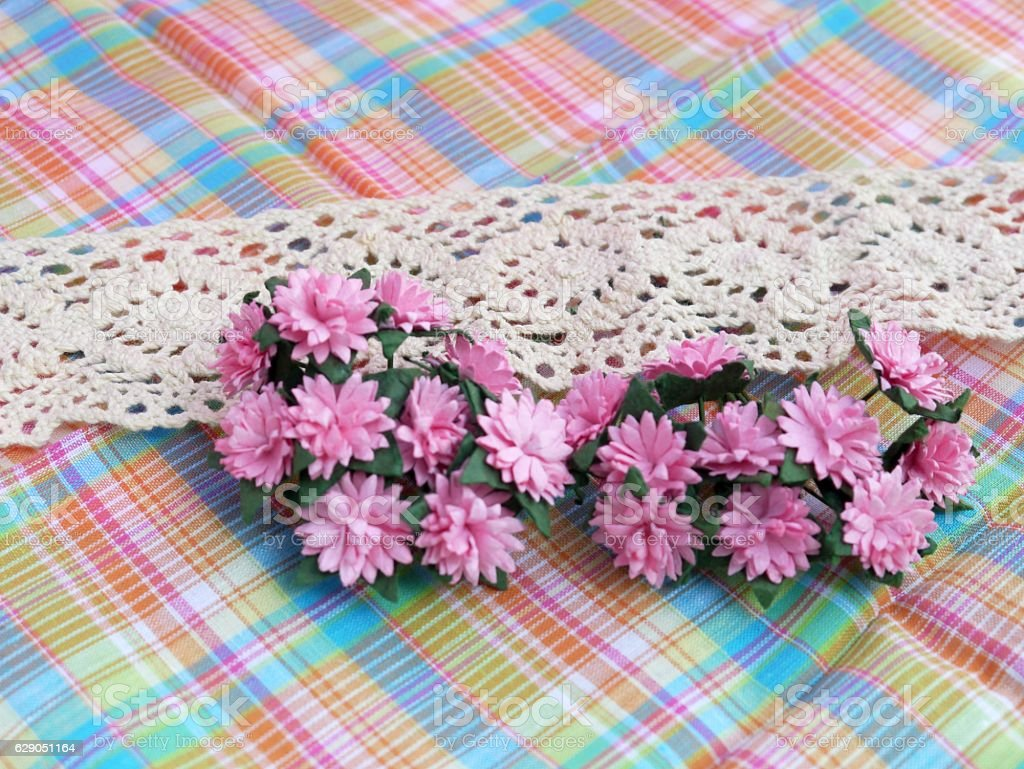 Lace And Daisy stock photo