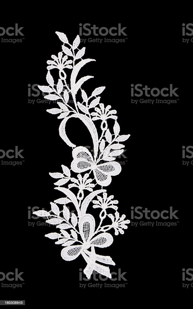 lace butterfly shape stock photo
