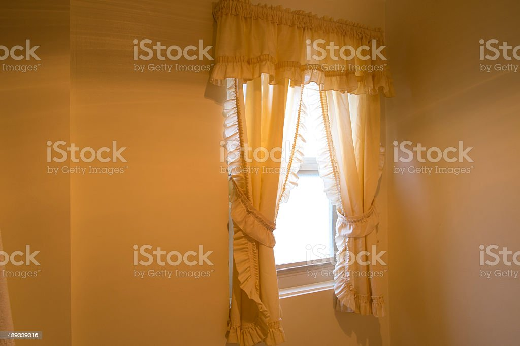 Lace Curtains stock photo