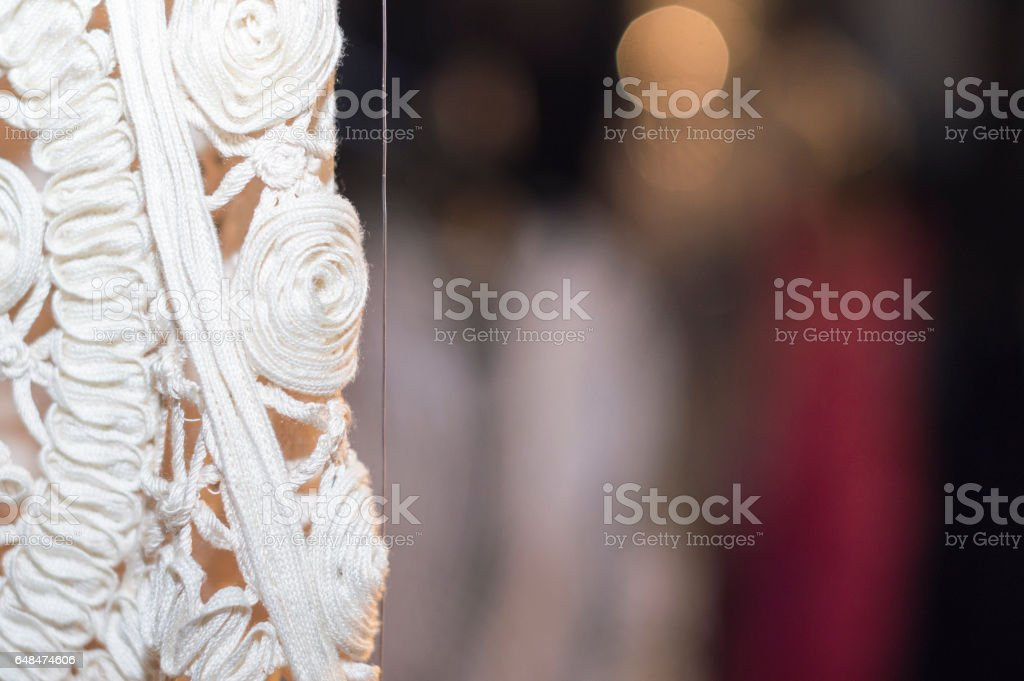 Lace detail blurred background stock photo