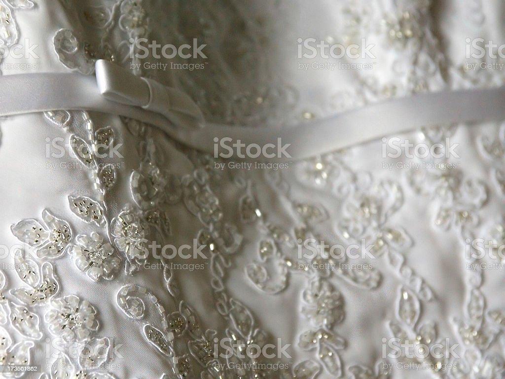 Lace Detail - Wedding Dress stock photo