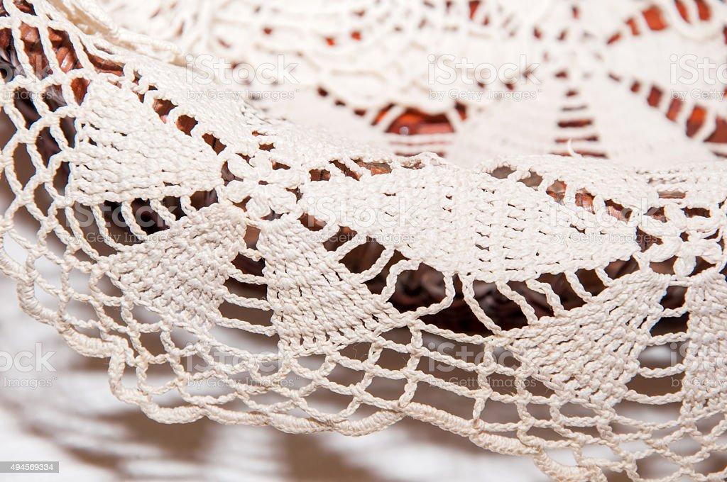 Lace doily stock photo