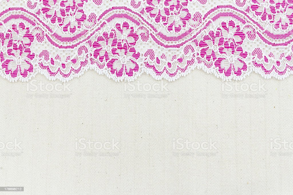 Lace Fabric frame royalty-free stock photo