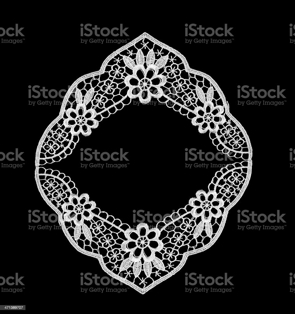 lace frame stock photo