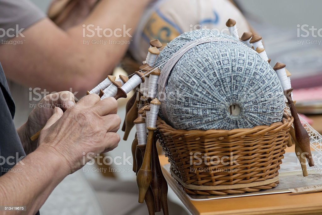 Lace Handcraft stock photo