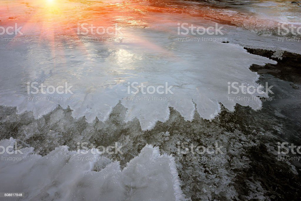 Lace ice frozen stock photo