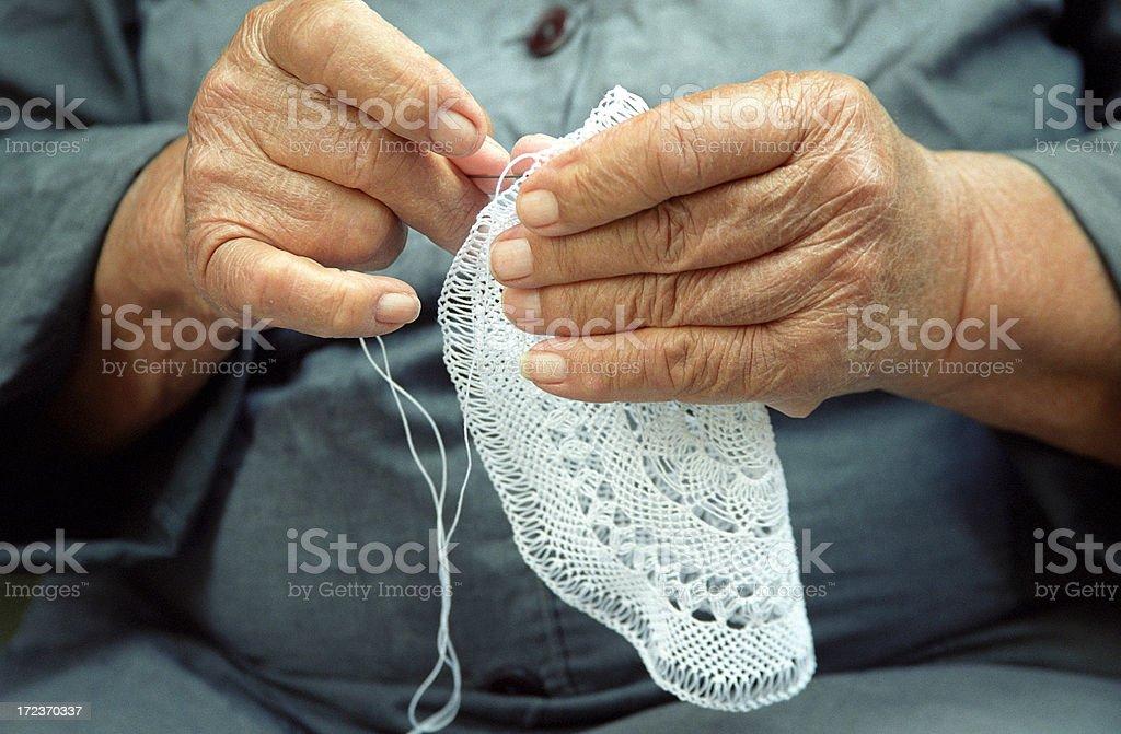 Lace Making royalty-free stock photo