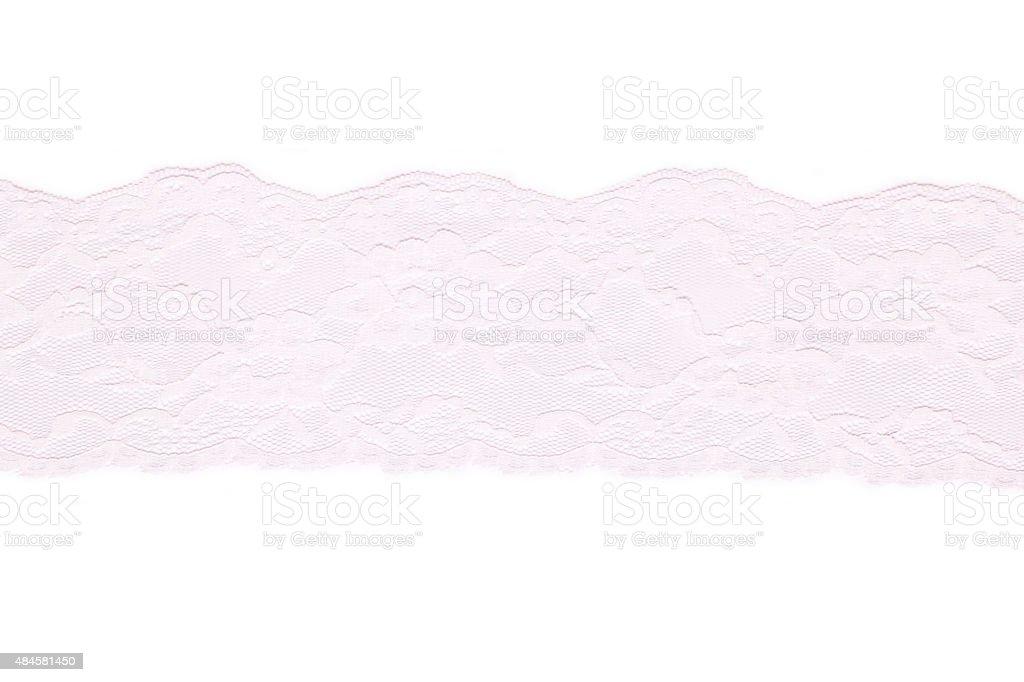 Lace on white background stock photo