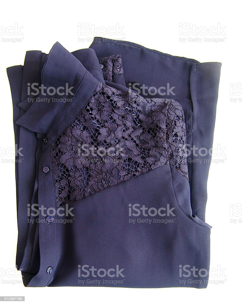 Lace shirt stock photo