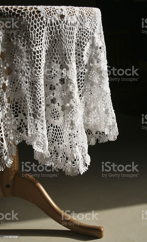 Lace Table Cloth royalty-free stock photo